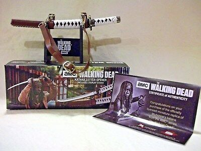THE WALKING DEAD Katana Letter Opener With  Certificate of Authenticity