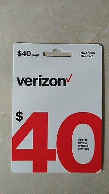 40 Verizon Wireless Prepaid Refill Card Email Delivery