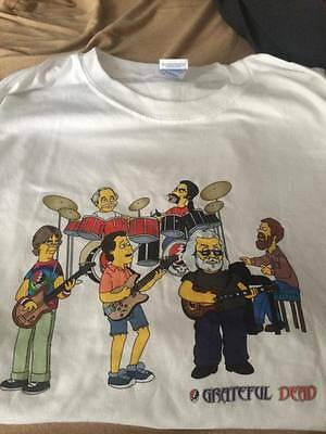 Grateful Dead as SIMPSONS T-shirt Jerry Garcia Phil Lesh Bob Weir - Company