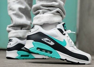New NIKE Air Max 90 Essential Mens white green obsidian all sizes