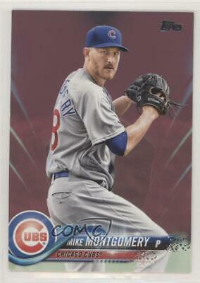 2018 Topps Update Series Mothers Day Hot Pink50 US190 Mike Montgomery Card