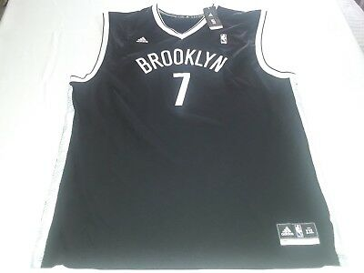 ADIDAS NBA JEREMY LIN BROOKLYN NETS 7 MENS BLACKWHITE 2XL JERSEY