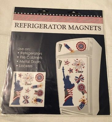 4th of July America Patriotic Shaped Refrigerator Magnets