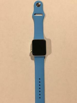 Apple Watch Series 3 38mm Silver Aluminium Case Blue Sport Band GPS 38 mm