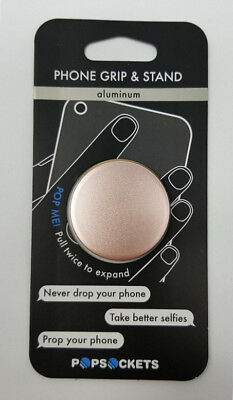New OEM PopSockets Rose Gold Aluminum Collapsible Grip - Stand Phone Holder