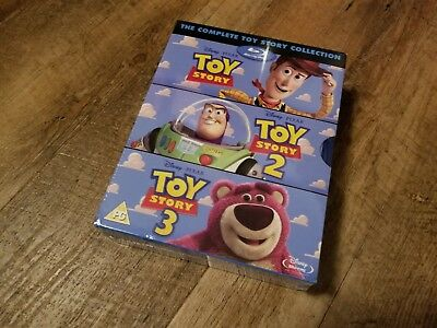 Toy Story Trilogy Collection Blu-ray 3 Discs Region Free NEWSEALED