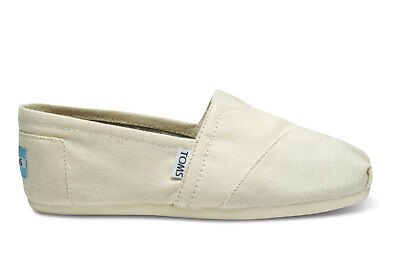 TOMS Womens Classic Natural Canvas Slip on Flats Shoes Size 6-5