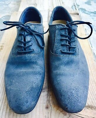 ALDO Grey Suede Leather Oxford Lace Up Shoes  Mens  Size 7-5B