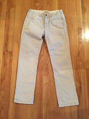 Hollister Co Mens Cream Chino Pants size 32 x 34