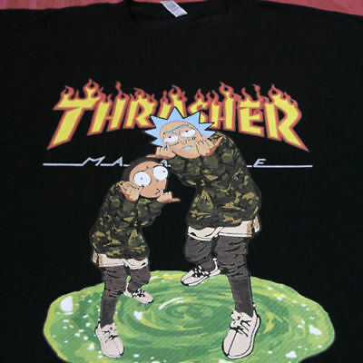 Rick And Morty Thrasher Magazine T-shirt size Large