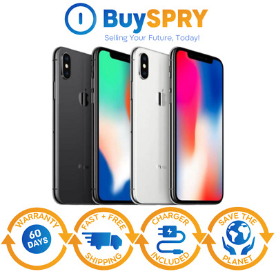 Apple iPhone X - 64GB - 256GB - Factory AT-T T-Mobile GSM Unlocked Smartphone