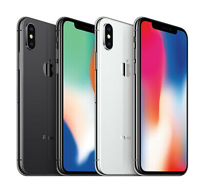 Apple iPhone X 64GB + 256GB 🍎 T-Mobile AT&T GSM 📱 Unlocked iOS Smartphone