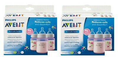 Philips Avent Bottle BPA Free 3 Wide Neck Bottles 9 Oz Colors Vary Pack of 2