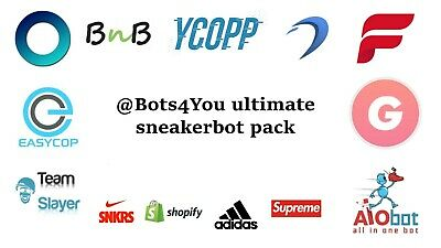 Sneaker Bot Pack- Supreme SNKRS CyberAIO Ghost SNKRS Dashe ANB AIO Adidas