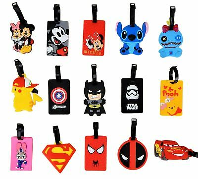 Disney and Various Luggage Tags  ID Holders with Strap  Huge Selection  NEW