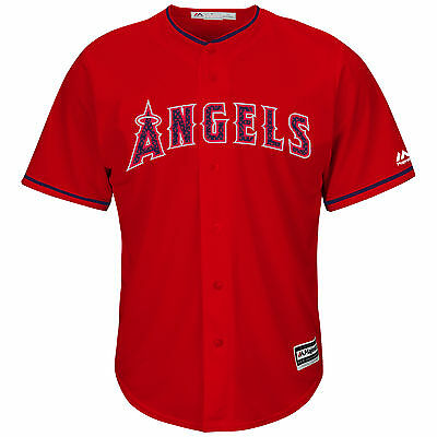 Mike Trout Los Angeles Angels 2016 4th of July Cool Base Jersey L