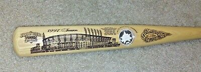 Heavy Hitter Carved Baseball Bat 1997 Jacobs Field All Star Game 1oz -999 Silver