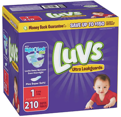 Free Ship - Luvs Disposable Diapers Size 1 - 210 count