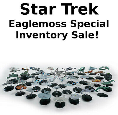 Star Trek Eaglemoss Ship SPECIAL INVENTORY SALE  Your Choice of 75- On Sale
