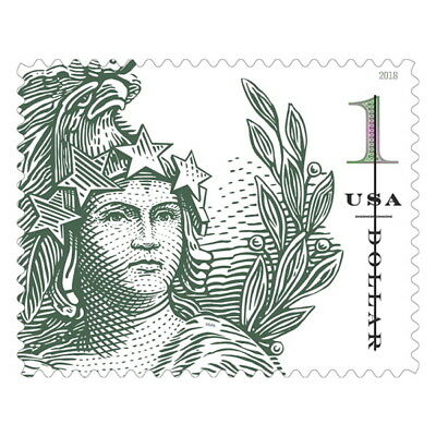 USPS New 1 Statue of Freedom Pane of 10