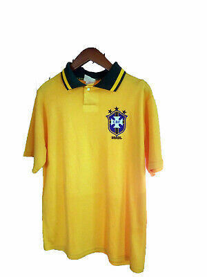 Vintage 1970s Brazilian Soccer Jersey Size M Attack Sports 3 World Cup Wins