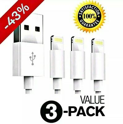 4 Pack IPhone Charger Cable Lightning USB For Original Apple Iphone 5 S 6 7 8 X