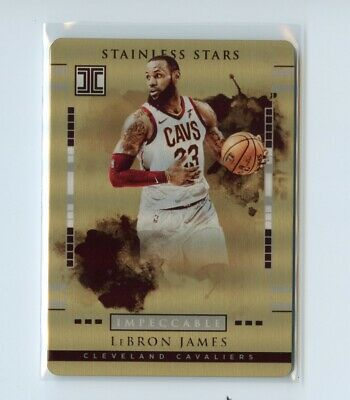 LeBron James 2017-18 Panini Impeccable Stainless Stars Gold 10 Cavs Lakers GOAT