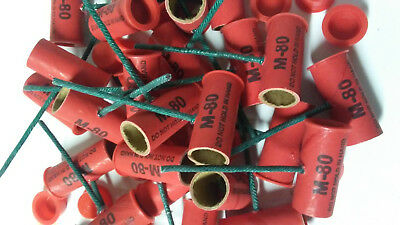 Stamped Pyro Tube M80 916 x 1-12 with plastic plugs 2550 Salute RTF