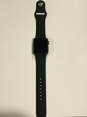 Apple Watch Series 3 38mm Space Gray LTE - GPS with Black Sport Band 38 mm