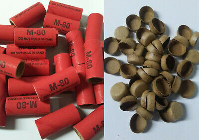 Stamped Pyro Tube M80 916 x 1-12 with plugs 2550 Firework Salute