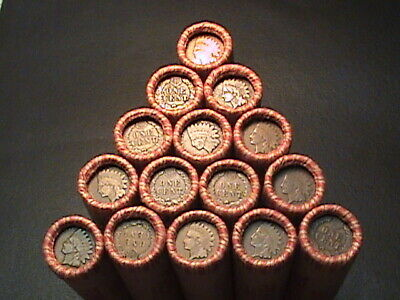 1800S -1900S INDIAN HEADWHEAT PENNY ROLLS FROM ESTATE LOT SALE