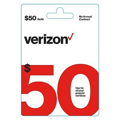 Brand New 50 Verizon Wireless Prepaid Refill Card - Email Delivery fast