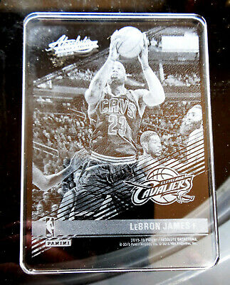 2015 16 Panini Absolute Memorabilia Etched Glass LEBRON JAMES 11