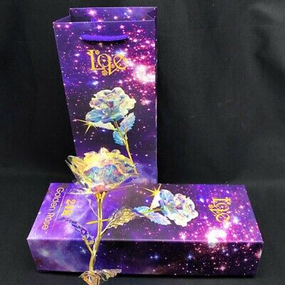 Galaxy Rose with Love Base Luminous Rose Mothers Day Anniversary Birthday Gift