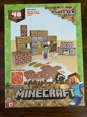 Minecraft Shelter Pack Paper Craft Activity Set by Mojang FREE SHIPPING