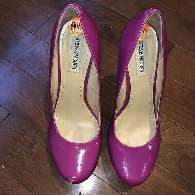 Steve Madden Womens Patent Leather Multi Color Wedges Size 9-5