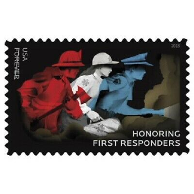 Forever Stamps Honoring First Responders Sheet Book Of 20
