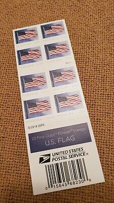10-50 for 20 US Flag Forever Stamps SHIPS FREE