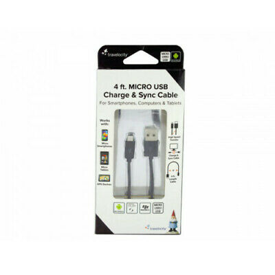 3 x USB Charge - Sync Cable 4 ft- Travelocity for smart phones