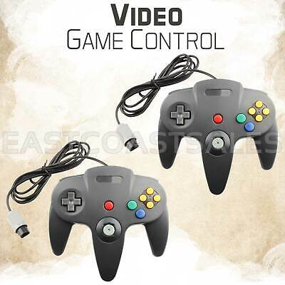 2x For N64 Controller Joystick Gamepad Video Wired Classic Nintendo Console