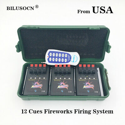 Profession 12 Cue Wireless Fireworks Firing system  Remote control-12pcs gift