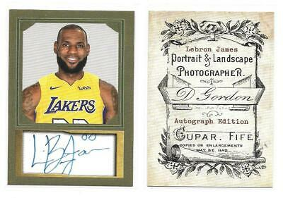 LEBRON JAMES Custom Autograph  facsimile Portait Card  Lakers uni- NBA