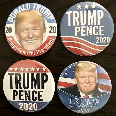 Donald Trump 2020 Variety Pack Buttons - Set of four 4 Different Buttons
