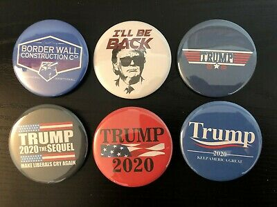 Donald Trump 2020 Variety Pack Buttons - Set of six 6 Different Buttons