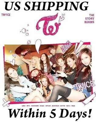 US SHIPPING TwiceThe Story Begins1st Mini Album CD-Booklet-Galand-Card