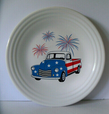 Fiesta TRUCK AMERICANA Fourth of July Fireworks Decal Luncheon plate NEW wTag