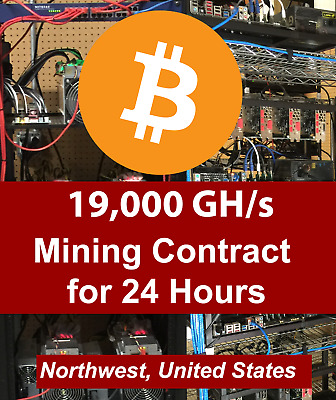 19 THS Antminer Dual S9 ASIC  Bitcoin  24 hour Mining Contract  Rental Lease