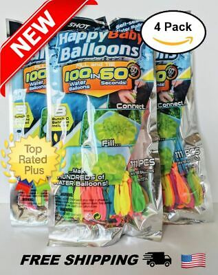4-pack 444 balloons Instant Easy Fill Self-Sealing Water Balloons Bunch Style