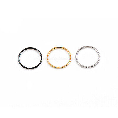 20G 18G 14 516 38 Gold Plated on Steel Seamless Nose Hoop Ear Tragus Ring