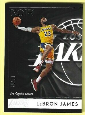 2018-19 Panini Noir LeBRON JAMES 88 Icon Edition Base Card 2985 Lakers